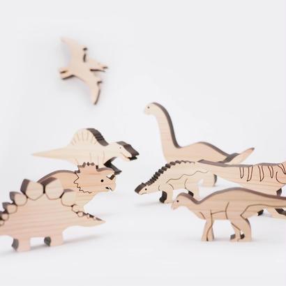 お風呂で遊べる 恐竜の積み木 DINO(ディノ)