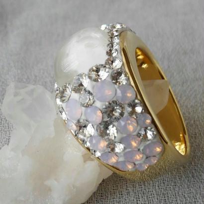 ∞水晶∞幅広ring(約13ミリ幅)