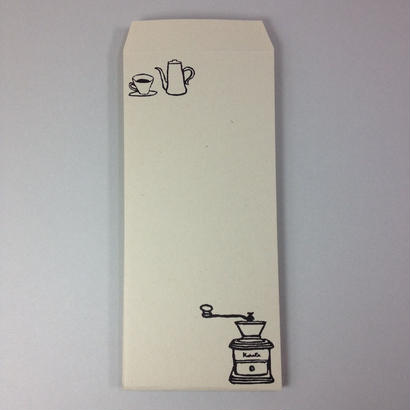 一筆箋封筒#5p コーヒーミル IPPE-12