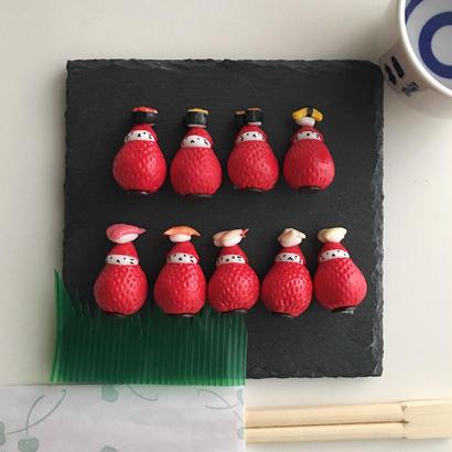 お寿司帽子の苺ぼうや