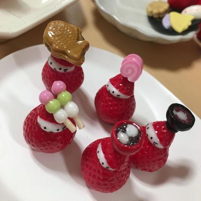 【苺ぼうや】季節を感じる和菓子苺ぼうやマスコット