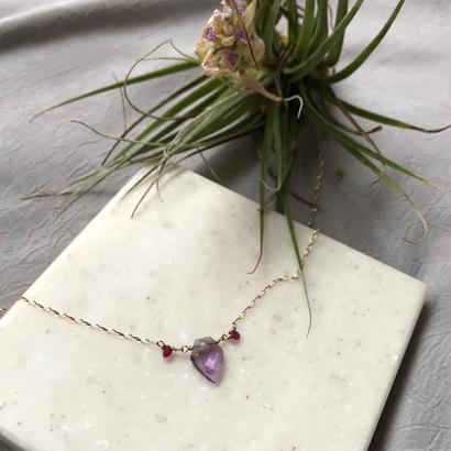 Ametrine, Ruby & K10YG  Necklace