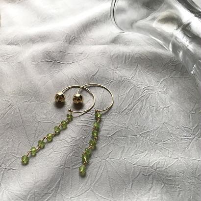 Hoop Pierced Earrings - Peridot