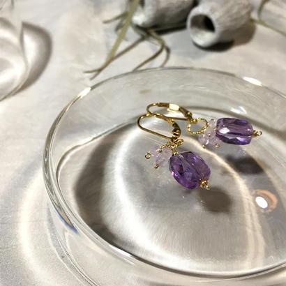 Clear Eme - Pierced Earrings and Earrings - Amethyst, LV