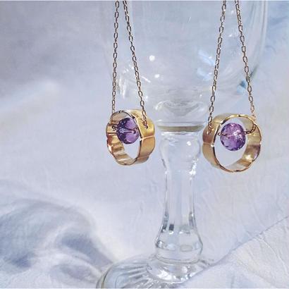 Floating Stone - Pierced Earrings