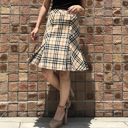 BURBERRY novacheck flare skirt