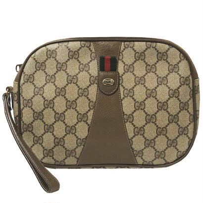GUCCI GG pattern clutch bag