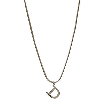 "DIOR ""D"" logo necklace"