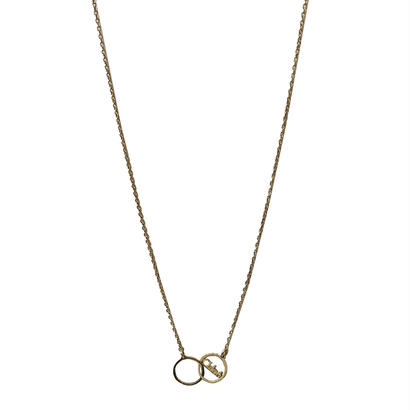 CHLOE logo circle necklace