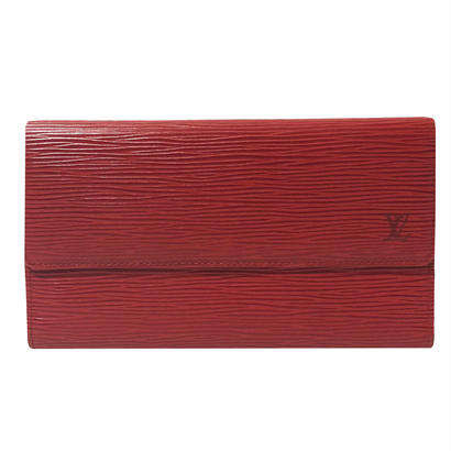LOUIS VUITTON epi wallet rouge