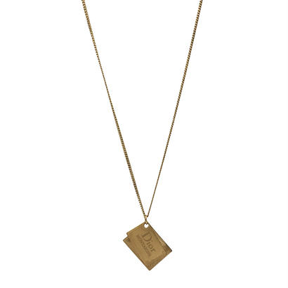 DIOR double logo plate necklace