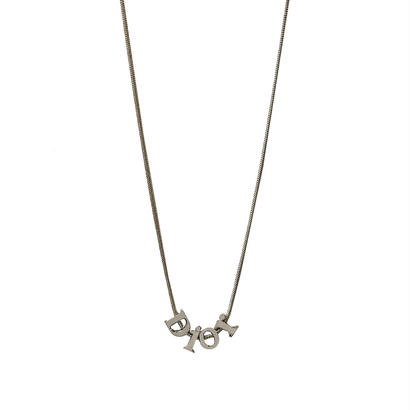 DIOR logo edge chain necklace