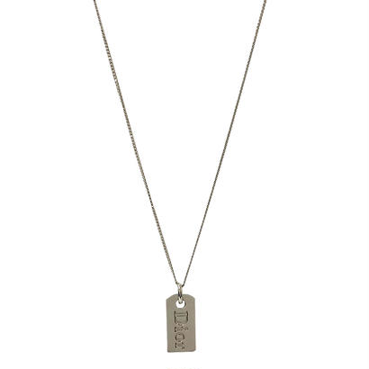 DIOR logo plate necklace