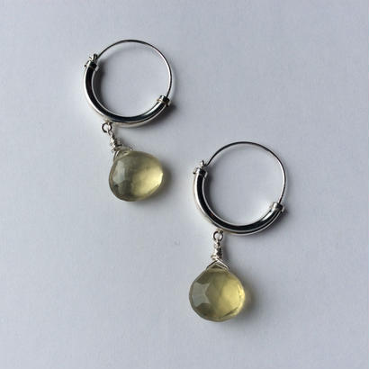 Lemon quartz hoop Pierce