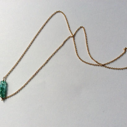 Emerald gold chain Necklace