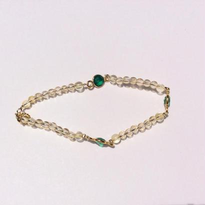 Genuin stone Bracelet green onyx
