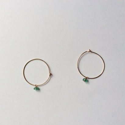 Emerald hoop Pierce