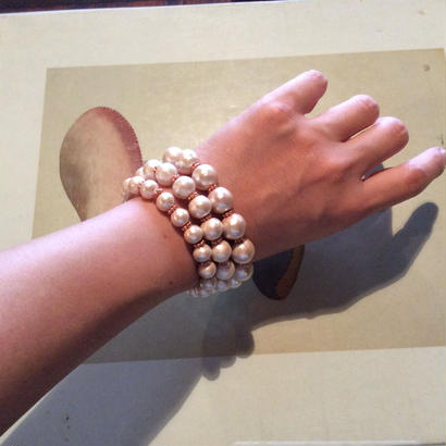Tripartite Cotton pearl Bracelet
