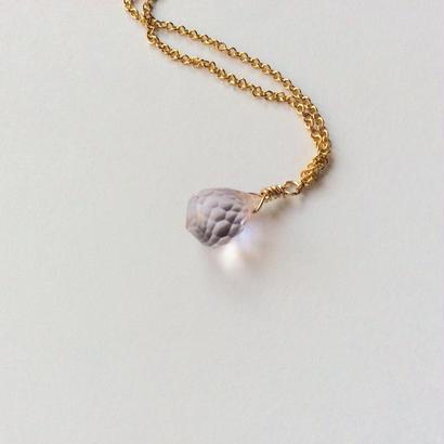 Rose quartz gold chain Necklace