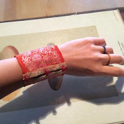 Tribal fabric Bracelet
