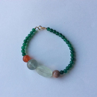 Genuine stone Bracelet  aquamarine