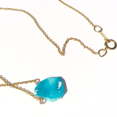 Sleeping beauty turquoise gold chain Necklace