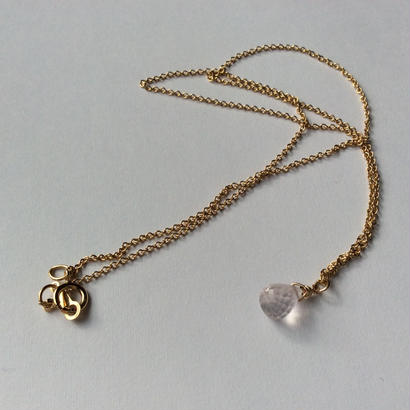 Rose quartz gold chain Necklace