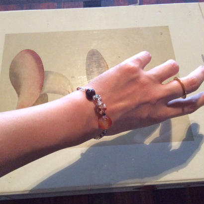 Genuine stone tie Bracelet