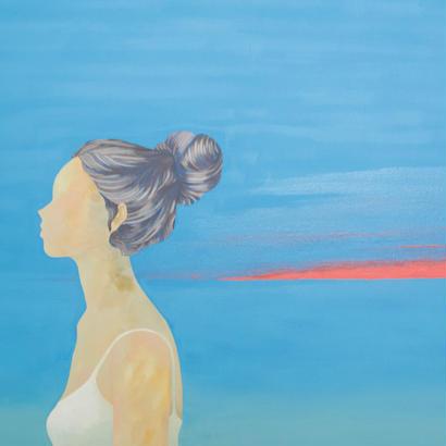 音もなく変わる空/ 原画  (silent sky /original paint)