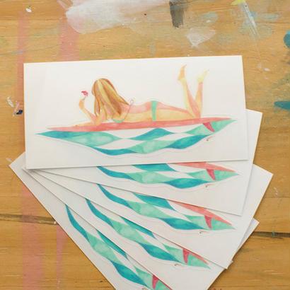 SURF GIRL ステッカー
