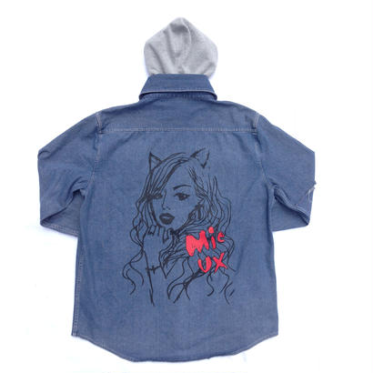 14'-15' TALL LONG SIZE HOOD DENIM SHIRT