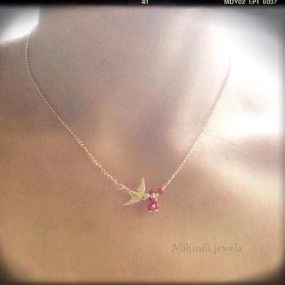 【Manu】swallow necklace