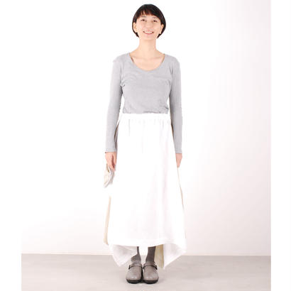 にこにこツートンシリーズ はばたきスカート(白×生成)
