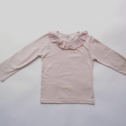 フリル襟カットソー(ピンク)