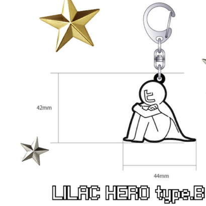 373 LILAC HERO RUBBER STRAP (type.B)
