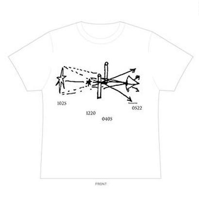 幾何  Tシャツ(ホワイト)