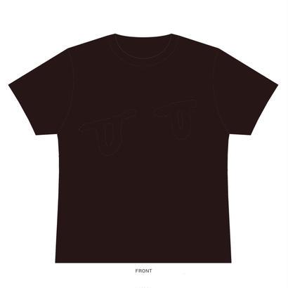眼 Tシャツ(ダークグレー)