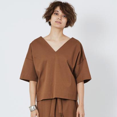 スムースVネックTシャツ(camel)