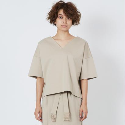 スムースVネックTシャツ(beige)