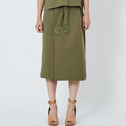 スムースラップスカート(khaki)