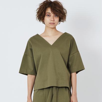 スムースVネックTシャツ(khaki)