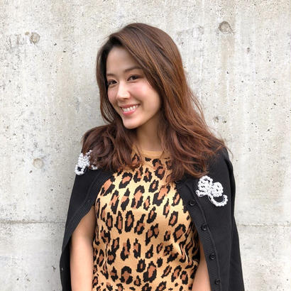 leopard knit wear