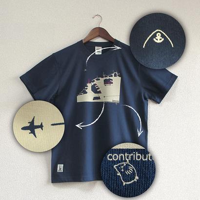 おとなTシャツ ブルー(神戸港)