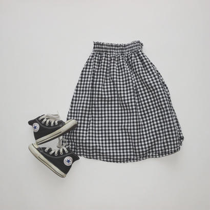 gingham check skirt(kids)