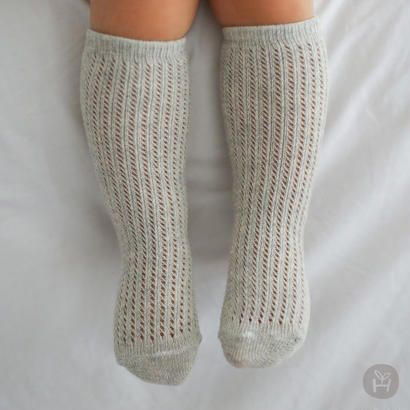pattern mesh socks