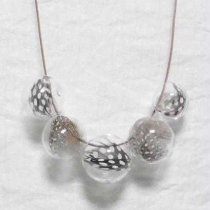 Ornament glass Necklace [GFN-1]
