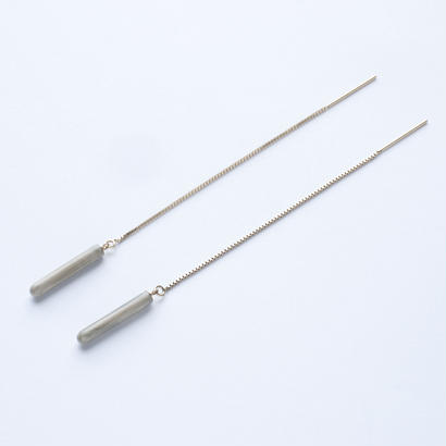 LAYER/POLE Earring Short Gray