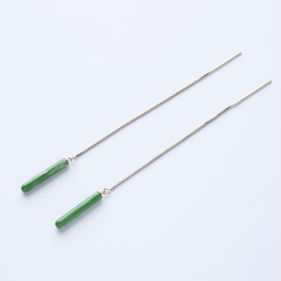 LAYER/POLE Earring Short Green