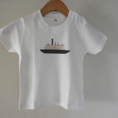 kodomo t-shirts「boat_pink」size90