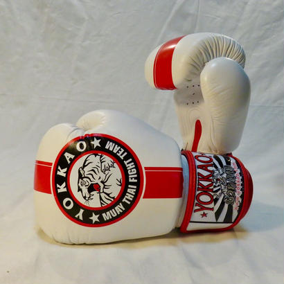 YOKKAO/ヨッカオ ボクシンググローブOfficial Fight Team White/Red